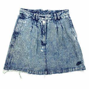 Nike Challenge Court Acid Distressed Denim Skirt